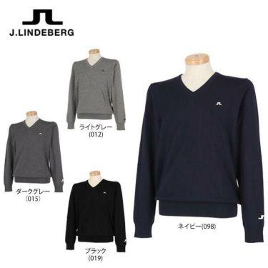 Jリンドバーグ J.LINDEBERG メンズ メリノウール 天竺 長袖 Vネック セーター 071-11915 2019年モデル