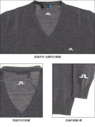 Jリンドバーグ J.LINDEBERG メンズ メリノウール 天竺 長袖 Vネック セーター 071-11915 2019年モデル 商品詳細8