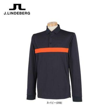 Jリンドバーグ J.LINDEBERG メンズ カラーブロック 長袖 ポロシャツ 071-21910 2019年モデル