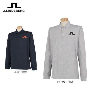 Jリンドバーグ J.LINDEBERG メンズ ロゴプリント 長袖 ポロシャツ 071-21915 2019年モデル