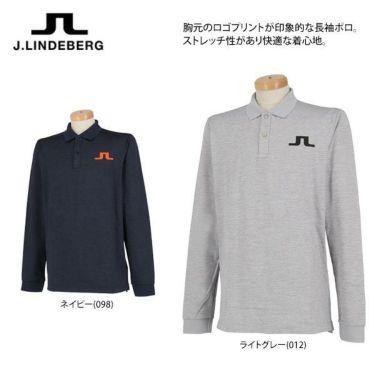 Jリンドバーグ J.LINDEBERG メンズ ロゴプリント 長袖 ポロシャツ 071-21915 2019年モデル 商品詳細4