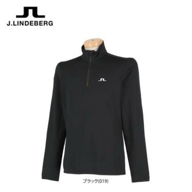 Jリンドバーグ J.LINDEBERG メンズ 裏起毛 ロゴ刺繍 長袖 ハーフジップシャツ 071-31911 2019年モデル