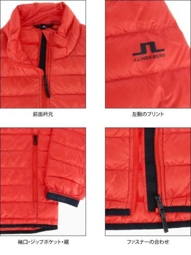 Jリンドバーグ J.LINDEBERG メンズ ロゴプリント 長袖 ライトダウン ジャケット 071-51014 2019年モデル 商品詳細7