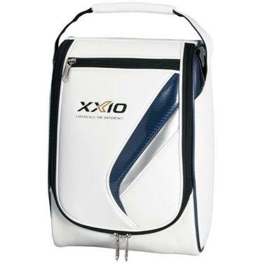 ダンロップ ゼクシオ XXIO フラッグシップモデル メンズ シューズケース GGA-X109 ホワイト×ネイビー
