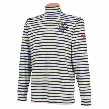 フィラ FILA メンズ ボーダー柄 エンブレム刺繍 長袖 タートルネックシャツ 789-511 2019年モデル ネイビー(NV)