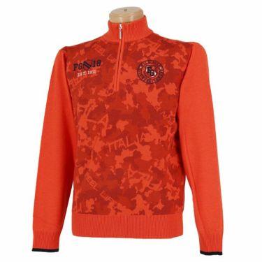 フィラ FILA メンズ カモフラージュ柄 長袖 ハイネック ハーフジップ セーター 789-701 2019年モデル オレンジ(OG)