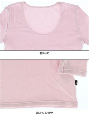 マンシングウェア Munsingwear レディース 裏起毛 長袖 Uネックシャツ LGA1002AG 商品詳細6