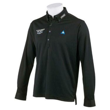 ルコック Le coq sportif メンズ ロゴ刺繍 ジャガード 長袖 ボタンダウン ポロシャツ QGMOJB02 2019年モデル ブラック