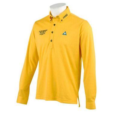 ルコック Le coq sportif メンズ ロゴ刺繍 ジャガード 長袖 ボタンダウン ポロシャツ QGMOJB02 2019年モデル イエロー