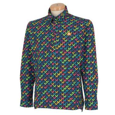 ルコック Le coq sportif メンズ タイポグラフィー柄 長袖 ボタンダウン ポロシャツ QGMOJB06 2019年モデル 商品詳細3