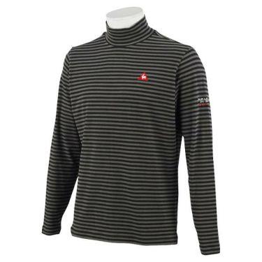 ルコック Le coq sportif メンズ ロゴ刺繍 ボーダー柄 長袖 ハイネックシャツ QGMOJB12 2019年モデル 商品詳細2