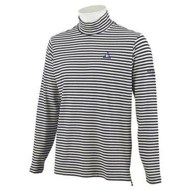 ルコック Le coq sportif メンズ ロゴ刺繍 ボーダー柄 長袖 ハイネックシャツ QGMOJB12 2019年モデル 商品詳細5