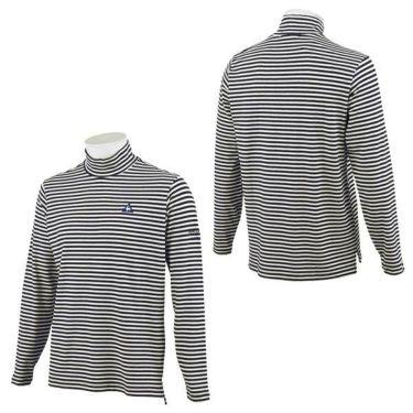 ルコック Le coq sportif メンズ ロゴ刺繍 ボーダー柄 長袖 ハイネックシャツ QGMOJB12 2019年モデル 商品詳細7