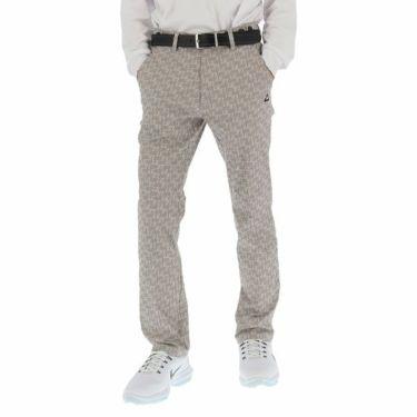 ルコック Le coq sportif メンズ ストレッチ 総柄 モノグラム テーパード 9分丈 パンツ QGMOJD01 2019年モデル グレー(GY00)