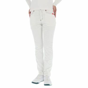 ルコック Le coq sportif レディース ロゴ刺繍 ストレッチ ロングパンツ QGWOJD02 2019年モデル [裾上げ対応1●] ホワイト(WH00)