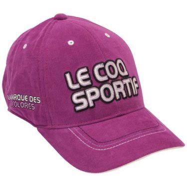 ルコック Le coq sportif コーデュロイ ロゴ刺繍 メンズ キャップ QGBOJC01 PP00 パープル