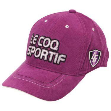 ルコック Le coq sportif コーデュロイ ロゴ刺繍 メンズ キャップ QGBOJC01 PP00 パープル 商品詳細2
