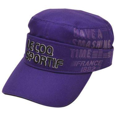 ルコック Le coq sportif コットンツイル 2WAY ドゴール メンズ キャップ QGBOJC02 PP00 パープル