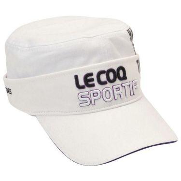 ルコック Le coq sportif コットンツイル 2WAY ドゴール メンズ キャップ QGBOJC02 WH00 ホワイト 商品詳細2