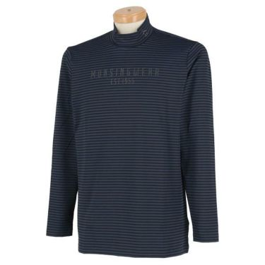 マンシングウェア Munsingwear メンズ ボーダー柄 ロゴプリント 長袖 ハイネックシャツ MGMOJB09 2019年モデル 商品詳細2