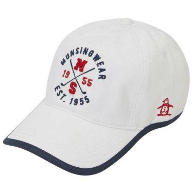 マンシングウェア Munsingwear レディース ロゴ刺繍 ウェーブカット キャップ MGCOJC01 WH00 ホワイト