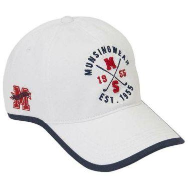 マンシングウェア Munsingwear レディース ロゴ刺繍 ウェーブカット キャップ MGCOJC01 WH00 ホワイト 商品詳細2