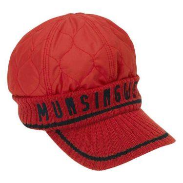 マンシングウェア Munsingwear レディース 中綿 ロゴジャガード キルティング ニットキャップ MGCOJC11 RD00 レッド 商品詳細2
