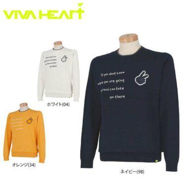ビバハート VIVA HEART メンズ ピースマークワッペン 長袖 クルーネックセーター 011-11910