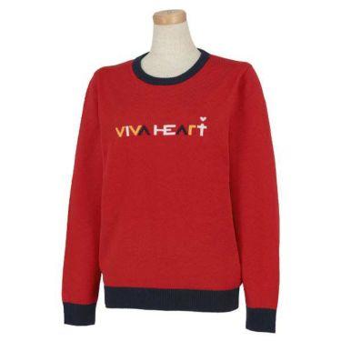 ビバハート VIVA HEART レディース ロゴデザイン 長袖 クルーネックセーター 012-11910 商品詳細2