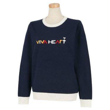 ビバハート VIVA HEART レディース ロゴデザイン 長袖 クルーネックセーター 012-11910 商品詳細3