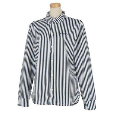 ビバハート VIVA HEART レディース ストライプ 長袖 ポロシャツ 012-21914 商品詳細3