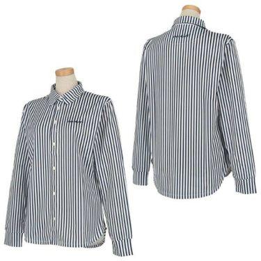 ビバハート VIVA HEART レディース ストライプ 長袖 ポロシャツ 012-21914 商品詳細5