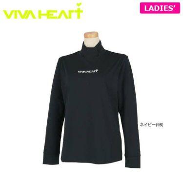ビバハート VIVA HEART レディース ロゴプリント ストレッチ 長袖 ハイネックシャツ 012-31811