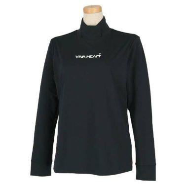 ビバハート VIVA HEART レディース ロゴプリント ストレッチ 長袖 ハイネックシャツ 012-31811 商品詳細2