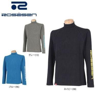 ロサーセン Rosasen メンズ 起毛素材 ロゴプリント 長袖 タートルネックシャツ 044-21010 2019年モデル