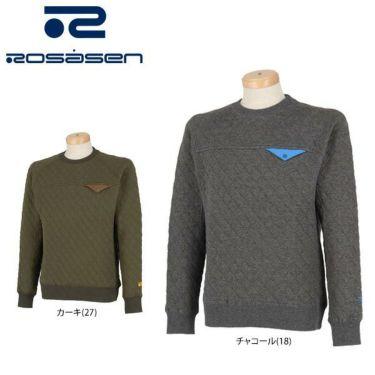 ロサーセン Rosasen メンズ スウェット キルティング 長袖 クルーネック プルオーバー 044-31010 2019年モデル