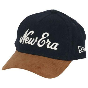 ニューエラ NEW ERA キャップ 9FORTY A-Frame メルトン New Eraオールドロゴ ライトブラウンスウェードバイザー 12108686 ネイビー 2019年モデル