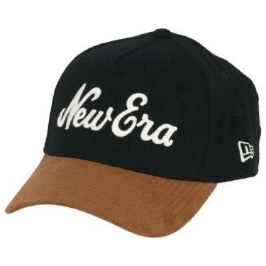 ニューエラ NEW ERA キャップ 9FORTY A-Frame メルトン New Eraオールドロゴ ライトブラウンスウェードバイザー 12108688 ブラック 2019年モデル