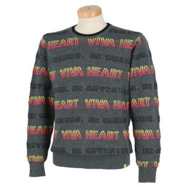 ビバハート VIVA HEART メンズ ロゴボーダー 長袖 クルーネック セーター 011-11010 商品詳細2