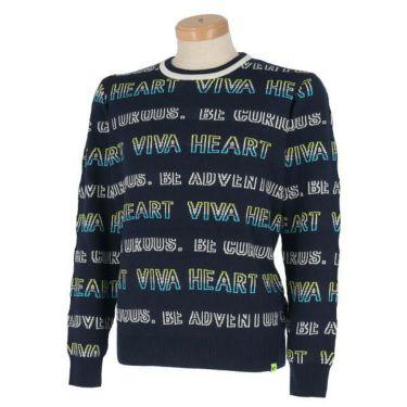 ビバハート VIVA HEART メンズ ロゴボーダー 長袖 クルーネック セーター 011-11010 商品詳細3