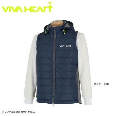 ビバハート VIVA HEART メンズ フード付き 中綿 2WAY フルジップ ベスト 011-41071