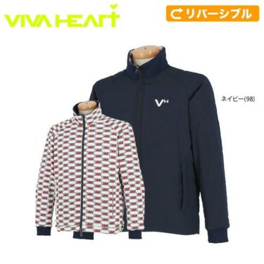 ビバハート VIVA HEART メンズ リバーシブル 中綿 長袖 フルジップ ブルゾン 011-51010