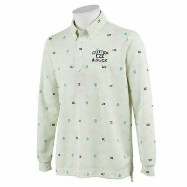 カッター&バック CUTTER&BUCK メンズ 総柄プリント 長袖 ボタンダウン ポロシャツ CGMOJB05 2019年モデル ホワイト(WH00)