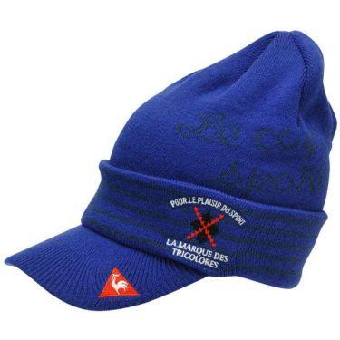 ルコック Le coq sportif メンズ ロゴ刺繍 ツバ付き ニットキャップ QGBOJC06 BL00 ブルー 商品詳細2
