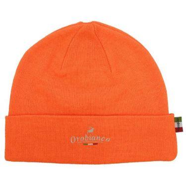 オロビアンコ  Orobianco ユニセックス ロゴ刺繍 ニット ビーニー 45304-112 20 オレンジ