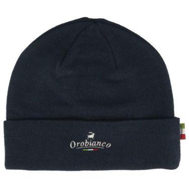 オロビアンコ  Orobianco ユニセックス ロゴ刺繍 ニット ビーニー 45304-112 59 ネイビー