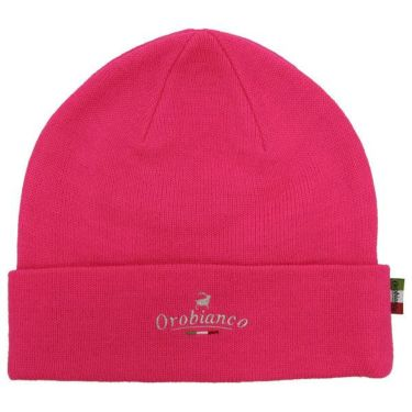 オロビアンコ  Orobianco ユニセックス ロゴ刺繍 ニット ビーニー 45304-112 70 ピンク