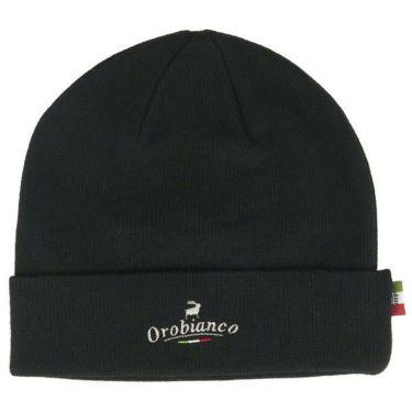 オロビアンコ  Orobianco ユニセックス ロゴ刺繍 ニット ビーニー 45304-112 99 ブラック