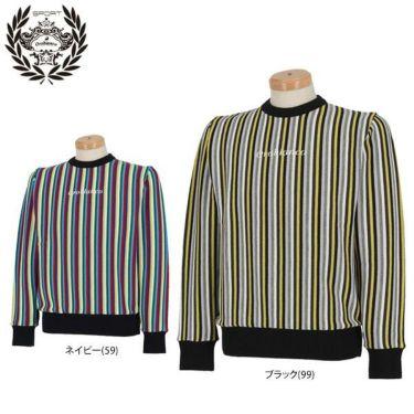 オロビアンコ  Orobianco メンズ ストライプ柄 ロゴ刺繍 長袖 クルーネック セーター 45380-104 2019年モデル