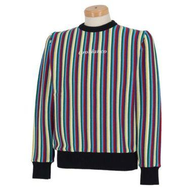 オロビアンコ  Orobianco メンズ ストライプ柄 ロゴ刺繍 長袖 クルーネック セーター 45380-104 2019年モデル 商品詳細2